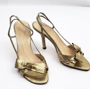 Kate Spade | Gold Snakeskin Heel Sandals Size  7